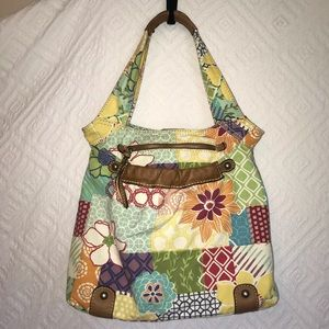 Fossil Original Brand Floral Shoulder Bag